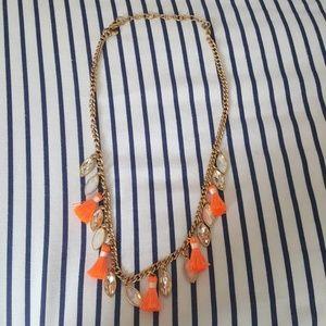 J Crew Tassle & Stone Necklace